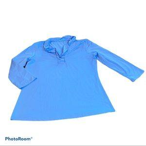 J. McLaughlin blue shirt